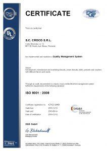 427422 - Croco S.R.L. - certificate - English(US) - 2015-12-10 - QM08