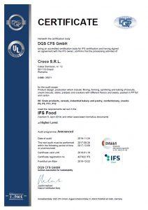 427422 - Croco S.R.L. - certificate - English(US) - 2016-12-22 - IFS